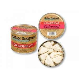 Crabmeat - Pasteurized, Harbor Seafood, Colossal, Wild (16oz Can)