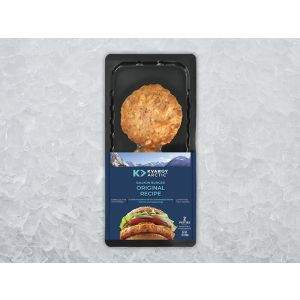 Kvaroy Arctic Salmon Burgers Original on Ice